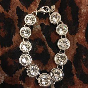 Silver-tone Crystal Bracelet.